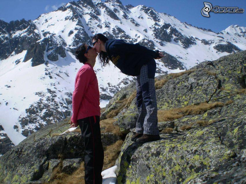 Hautes Tatras, baiser, amour, montagnes