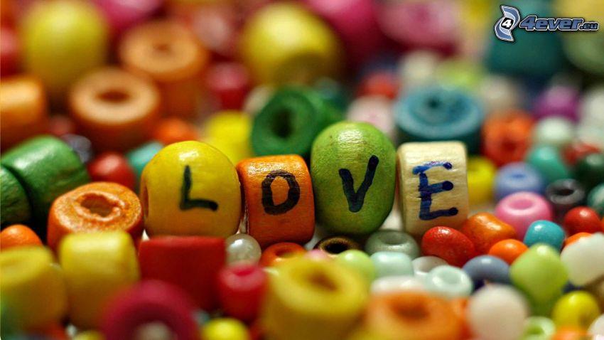 love, perles