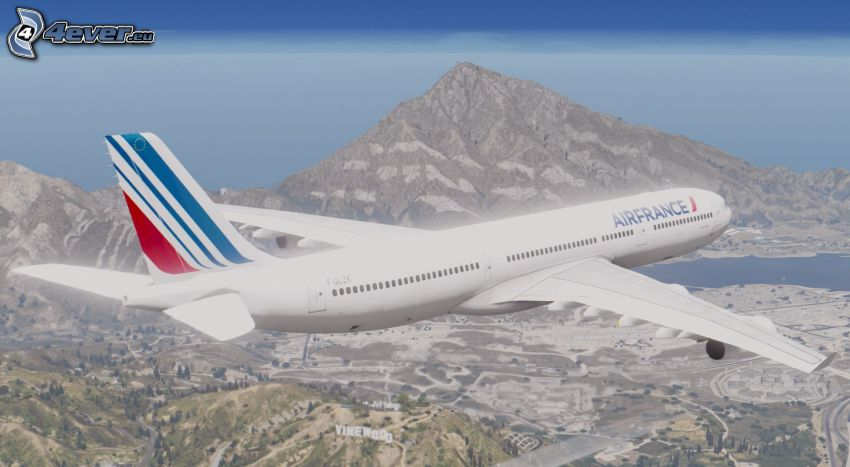 Airbus A340, montagne