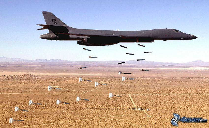 avion de chasse, bombardement, roquettes