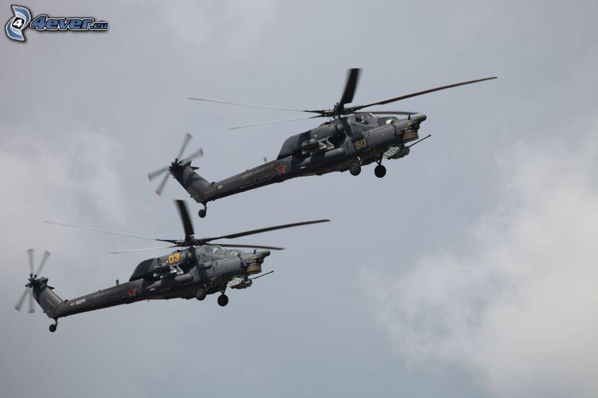 hélicoptères militaires