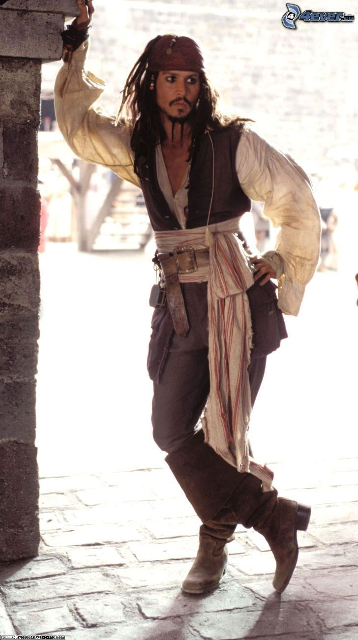 Jack Sparrow, Johnny Depp, Pirates des Caraïbes