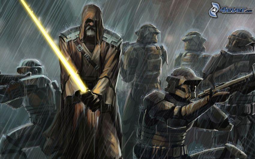 Star Wars, pluie