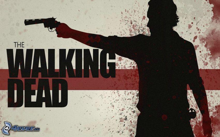 The Walking Dead, homme avec un fusil