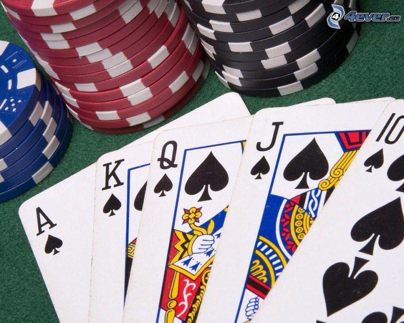 Cartes, jetons de casino