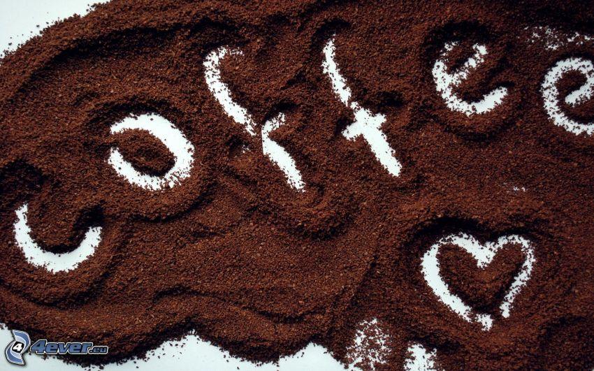 coffee, café, cœur