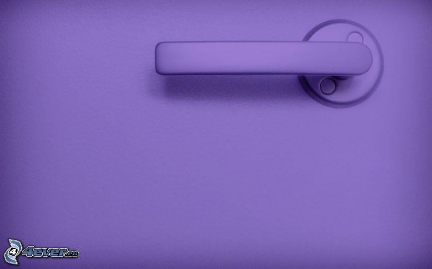 la poignée, le fond violet