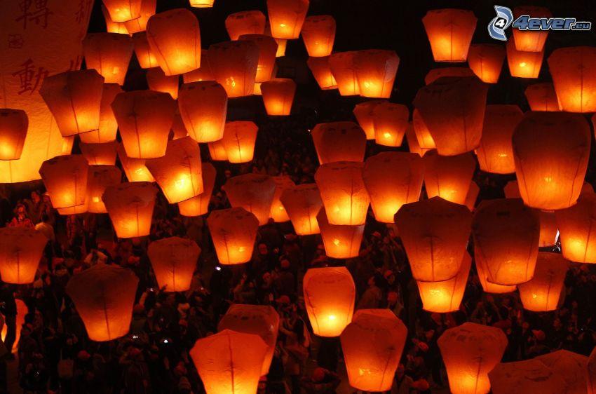 lanternes, de chance
