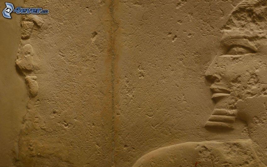 mur, visage, Égypte