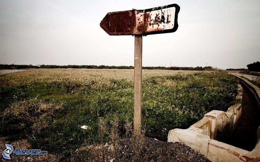 panneaux de signalisation, champ