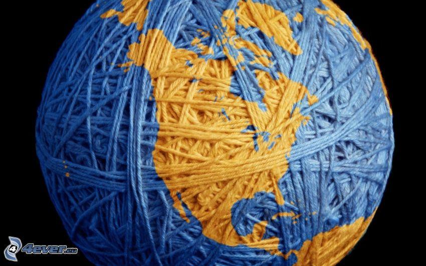 pelote, Amérique du Nord, Terre, laine