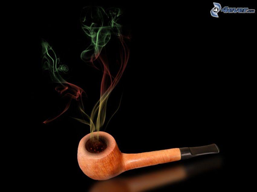 pipe, fumée