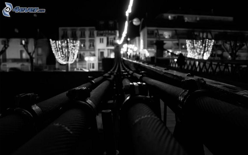 pipe, noir et blanc