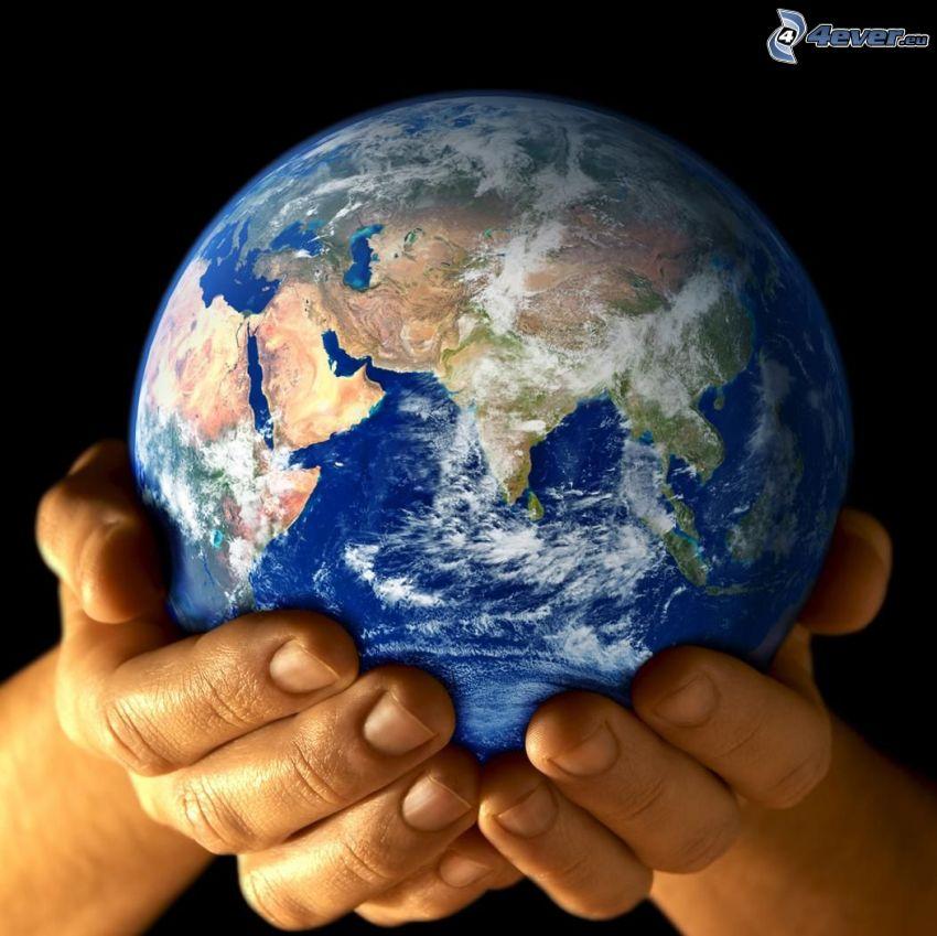 planète Terre, mains