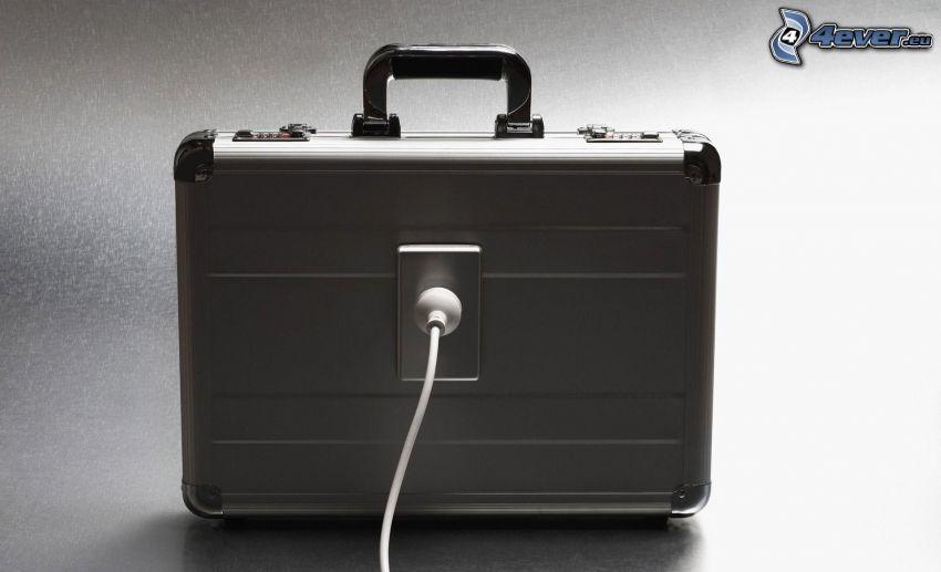 valise, le câble