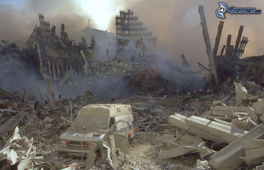 Ground Zero, ruines
