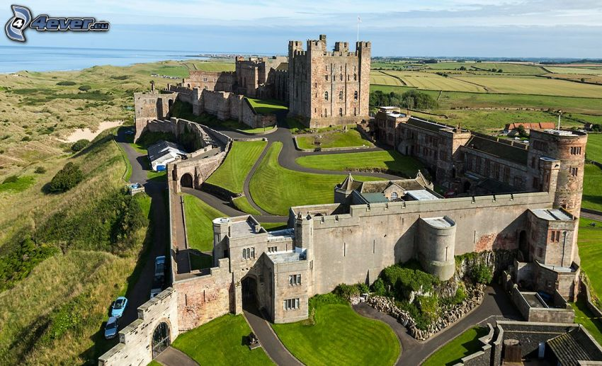 Bamburgh castle, champs