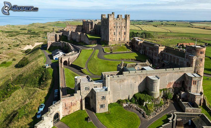 Bamburgh castle, champs