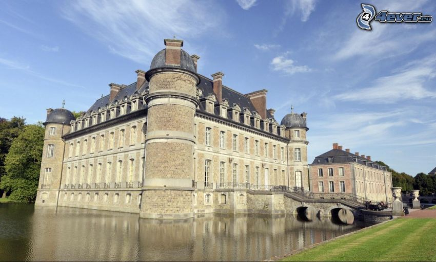 Château de Belœil, lac