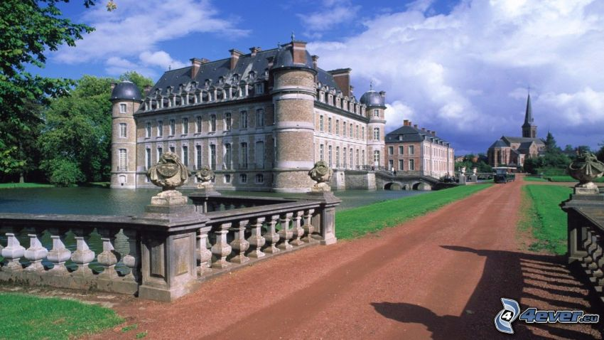 Château de Belœil, trottoir