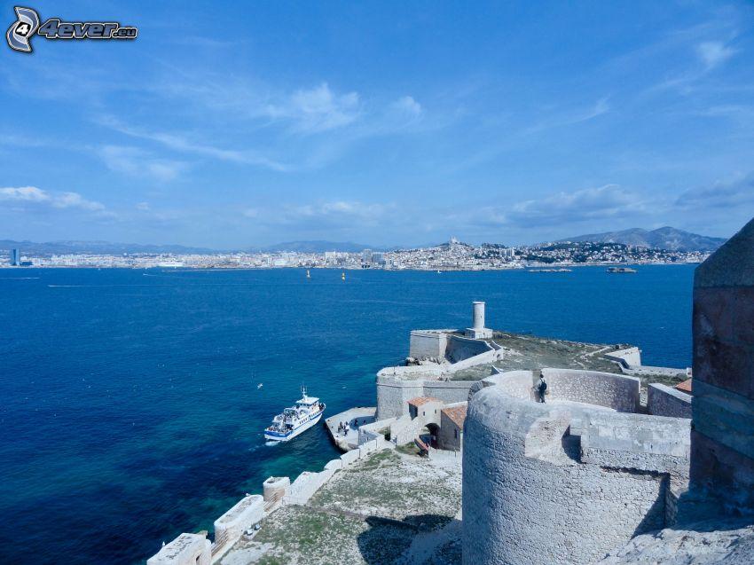 Château d'If, mer, une ville côtière