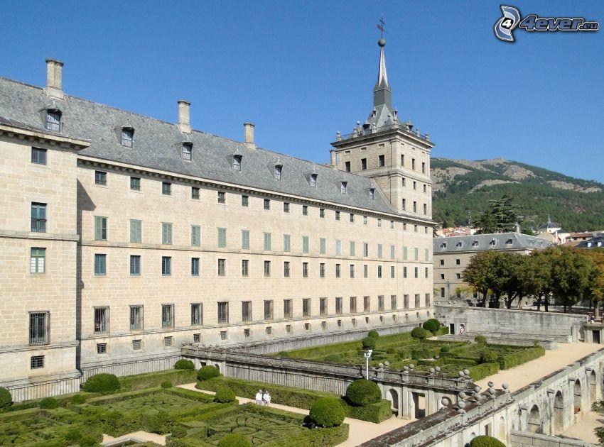 El Escorial, jardin, colline