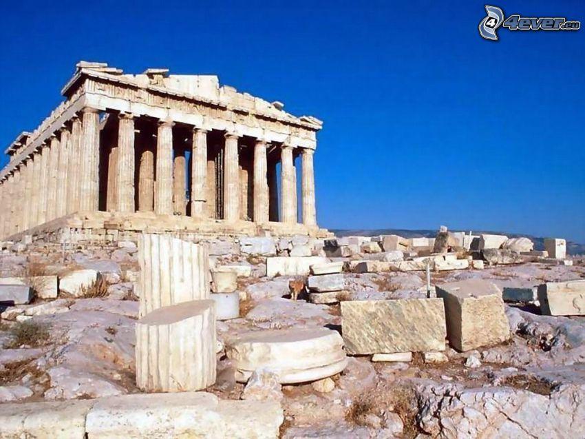 Parthénon, Athènes, pierres