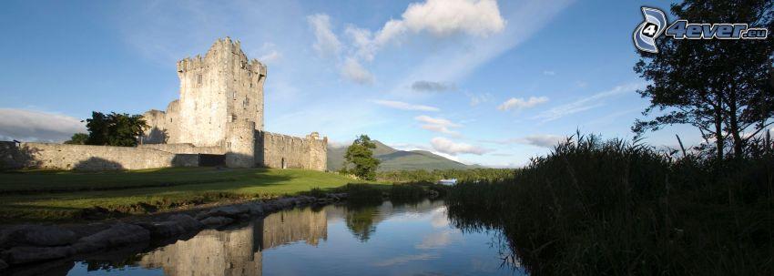 Ross château, rivière, reflexion