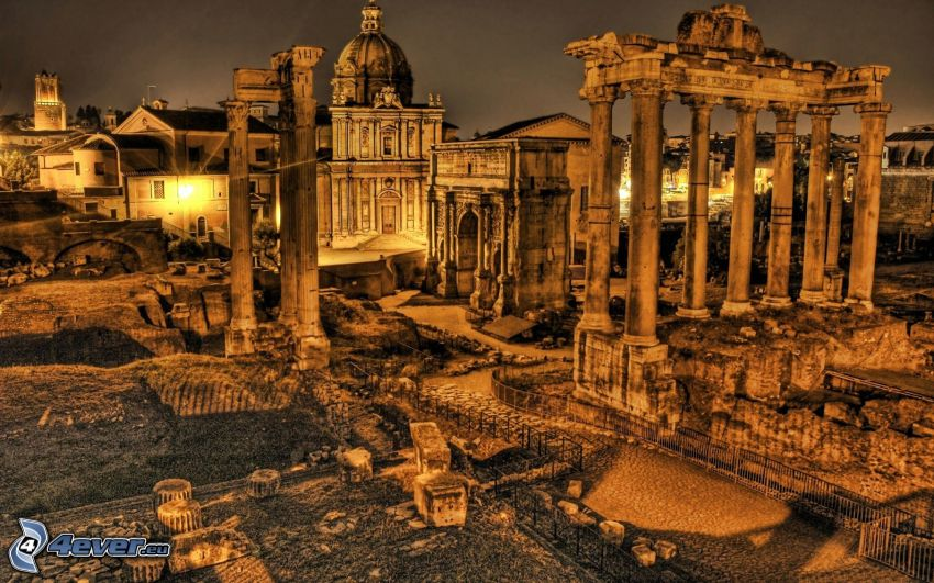 ruines, Rome, HDR