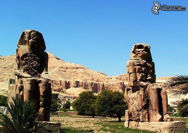 sculptures, Égypte
