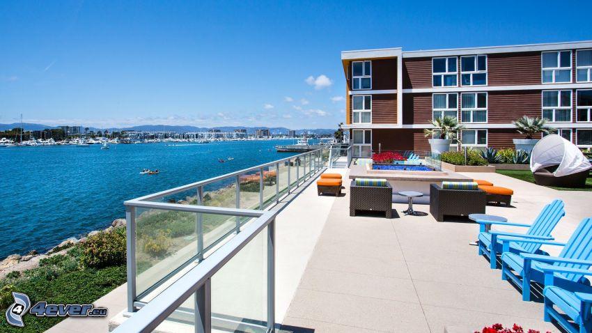 Marina Del Rey, terrasse, Californie