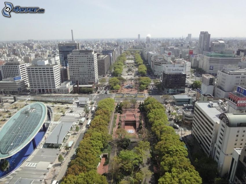 Odori Park, Sapporo, gratte-ciel