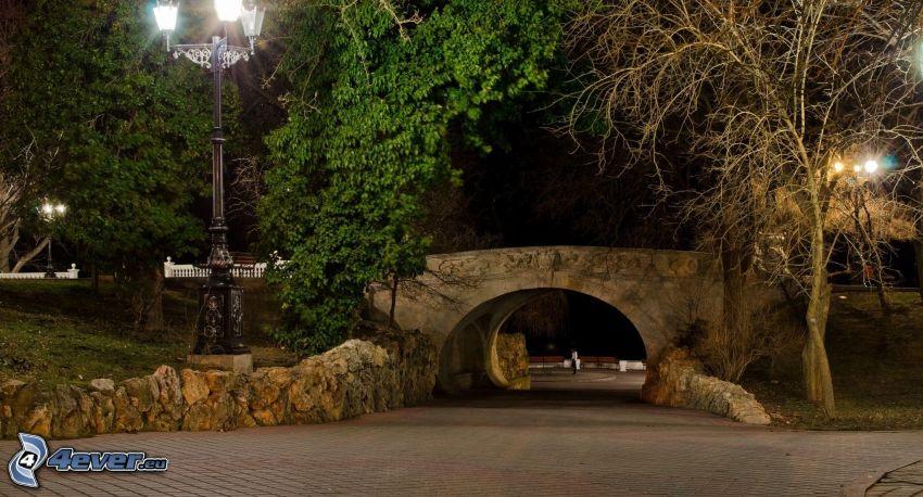 pont, soirée