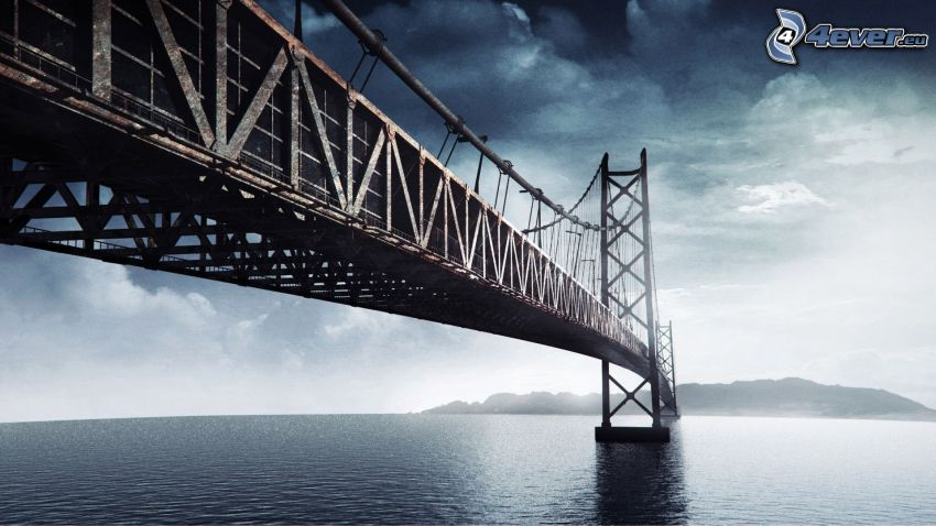 Akashi Kaikyo Bridge, ouvert mer