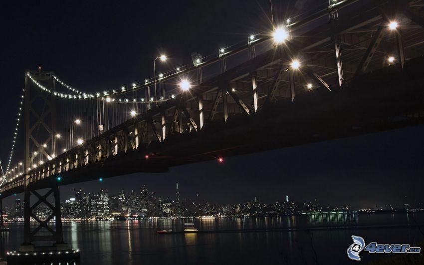 Bay Bridge, pont illuminé