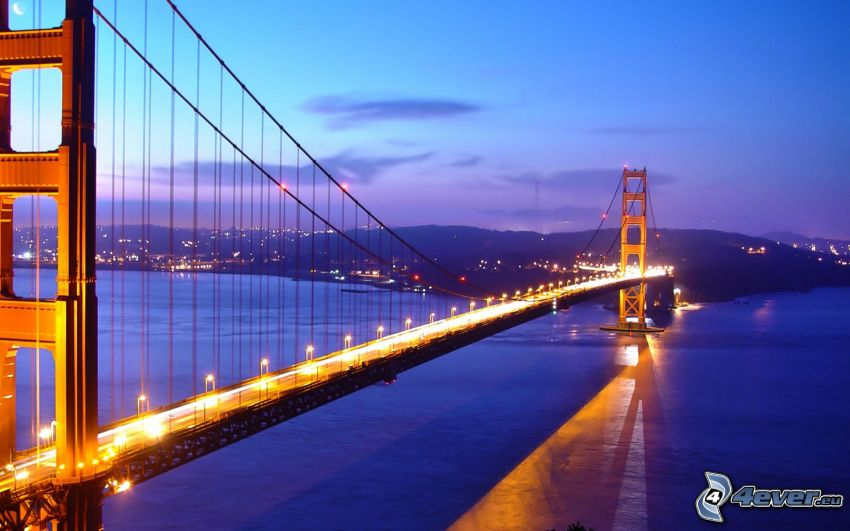 Golden Gate, pont illuminé