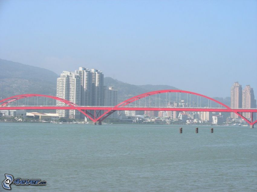 Guandu Bridge, gratte-ciel