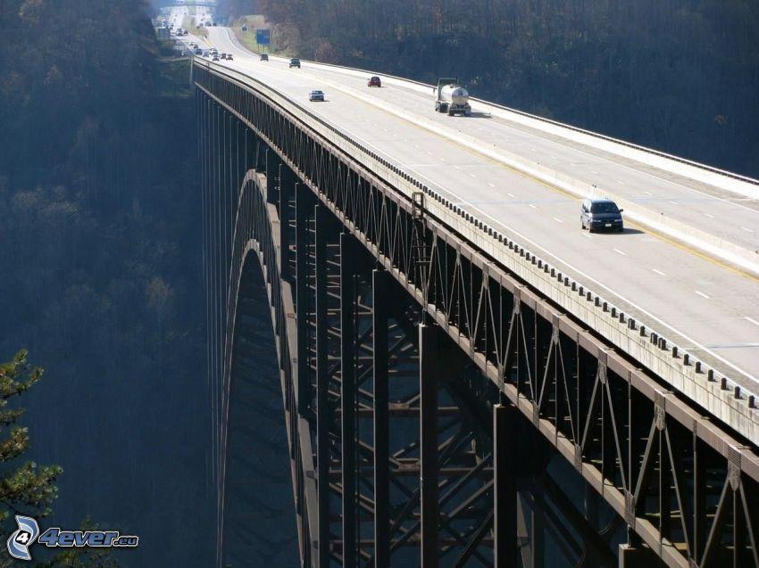 New River Gorge Bridge, autoroute