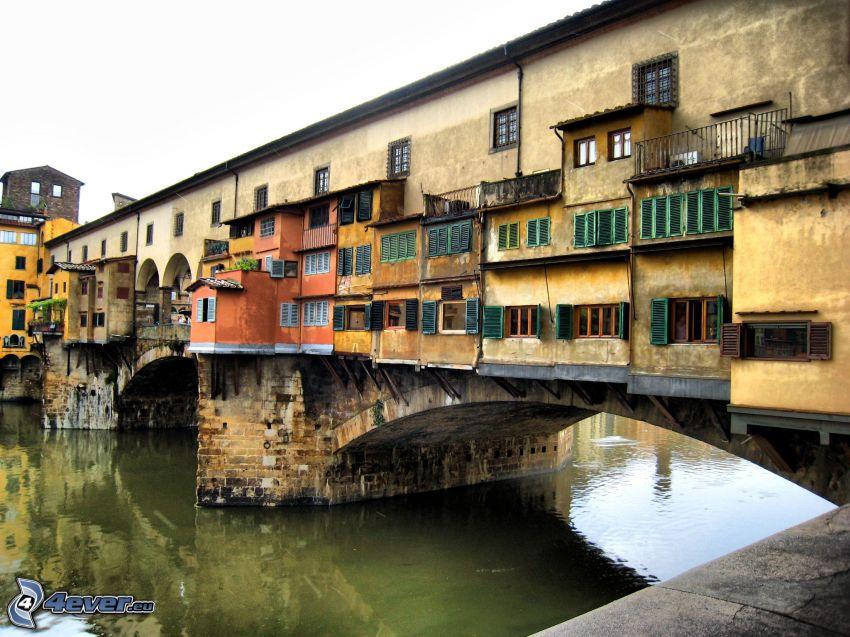 Ponte Vecchio, Florence, Arno, rivière, pont