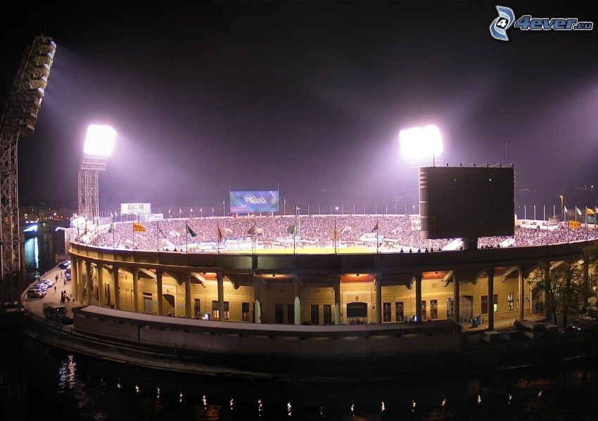 stade de football, éclairage