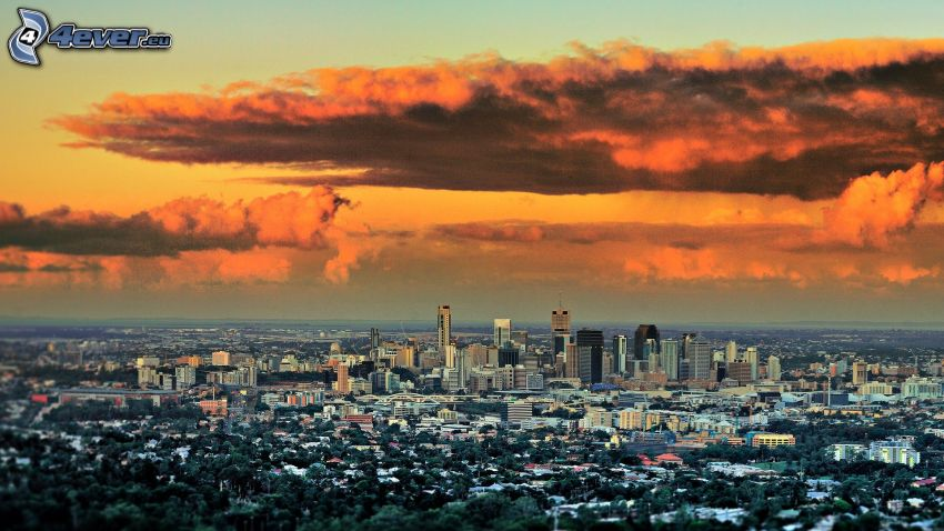 Brisbane, nuages
