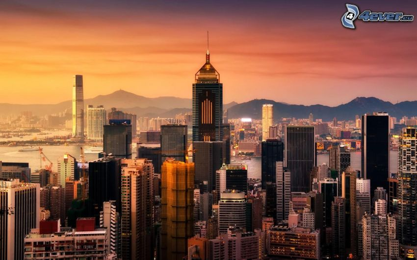Hong Kong, gratte-ciel