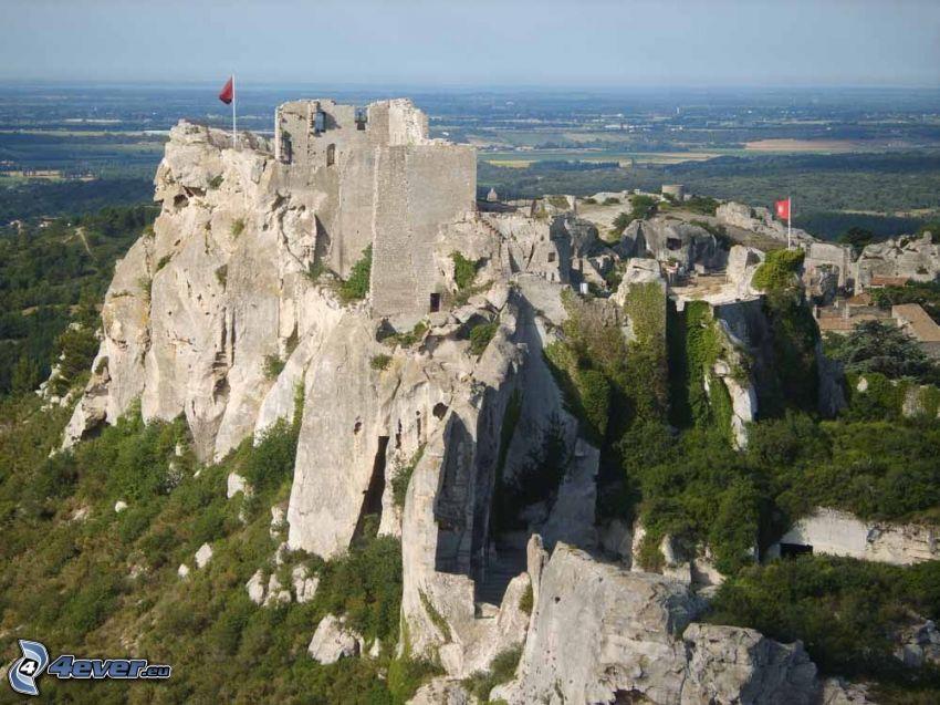 Les Baux de Provence, falaise, fortification