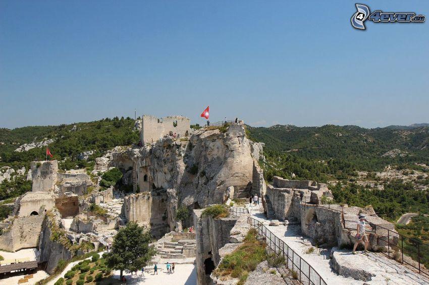 Les Baux de Provence, fortification