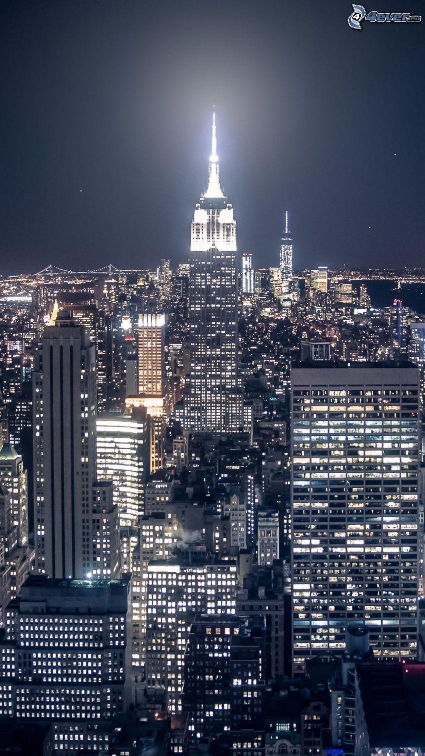 New York, ville dans la nuit