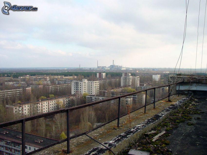 Pripiat, Tchernobyl, les immeubles