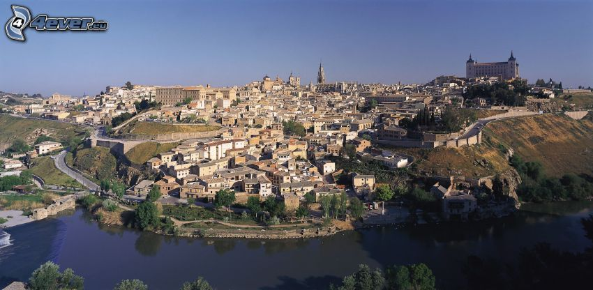 Tolède, Alcázar de Toledo, rivière