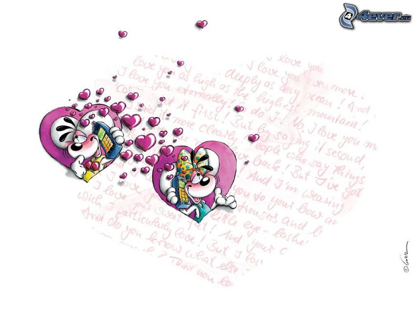 amour, dessin animé
