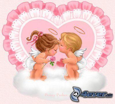 anges, cœur, amour