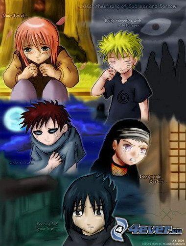 Naruto, Sakura, Gaara, Neji, Sasuke, Hinata